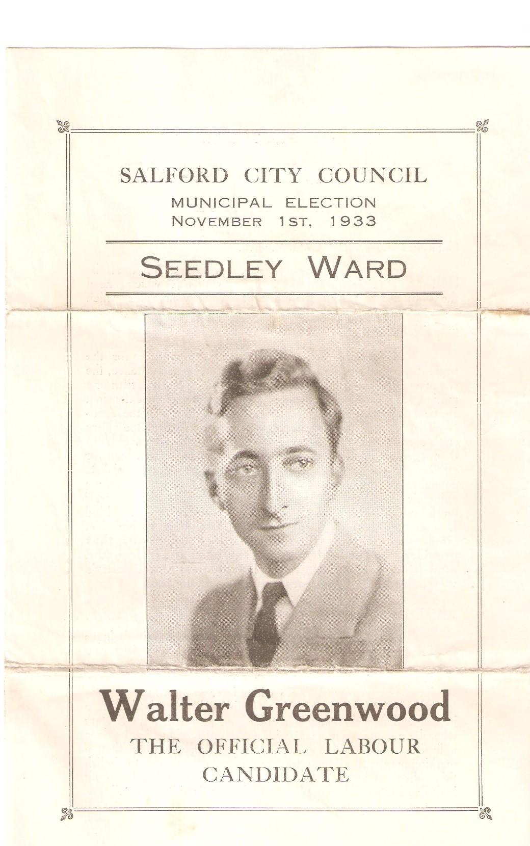 WG election leaflet 1933