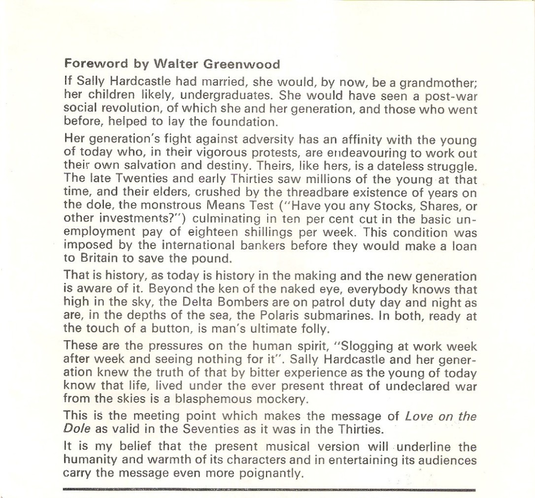 WG Foreword to Nottingham Programme