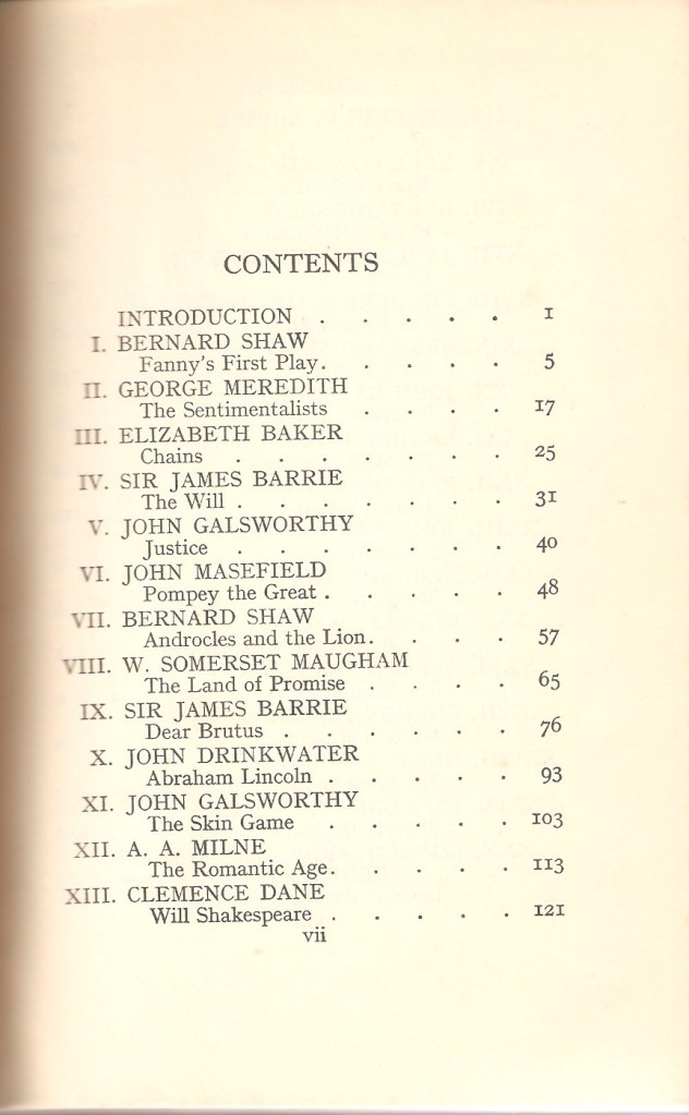Anthology of Modern Drama Contents p One